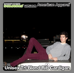 Picture of Unisex Tri-Blend Rib Cardigan