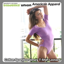 Picture of Cotton Spandex Jersey Short Sleeve T-Shirt Leotard