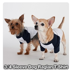 Picture of 3/4 Sleeve Dog Raglan T-Shirt