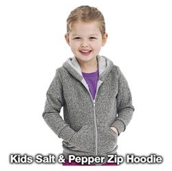 Picture of Kids/Youth Salt & Pepper Zip Hoodie AA028
