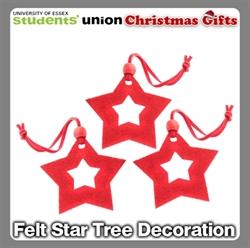 Picture of Felt Star Tree Decoration 3PK