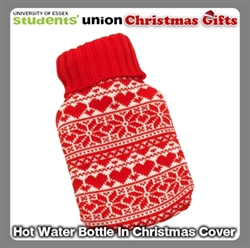 Picture of Hot Water Bottle In Christmas Cover