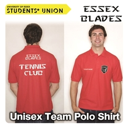 Picture of Essex Blades Tennis Club Polo Red