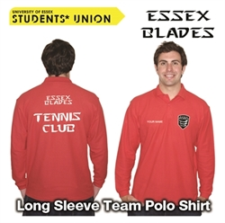 Picture of Essex Blades Tennis Club Long Sleeve Polo Red