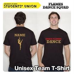Picture of Essex Flames Dance Squad T-Shirt Unisex