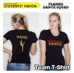 Picture of Essex Flames Dance Squad T-Shirt Lady Fit