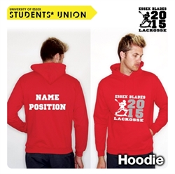 Picture of Lacrosse Team Hoodie Red 2015