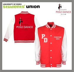 Picture of Essex Blades Pole Dance College Jacket/Fire Red
