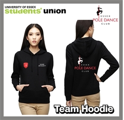 Picture of Essex Blades Pole Dance Team Hoodie Black